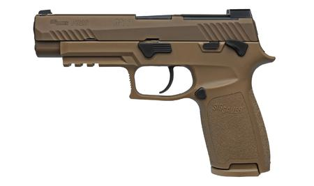 Sig Sauer P320 M17 9mm Full-Size Flat Dark Earth (FDE) Pistol with Manual  Safety