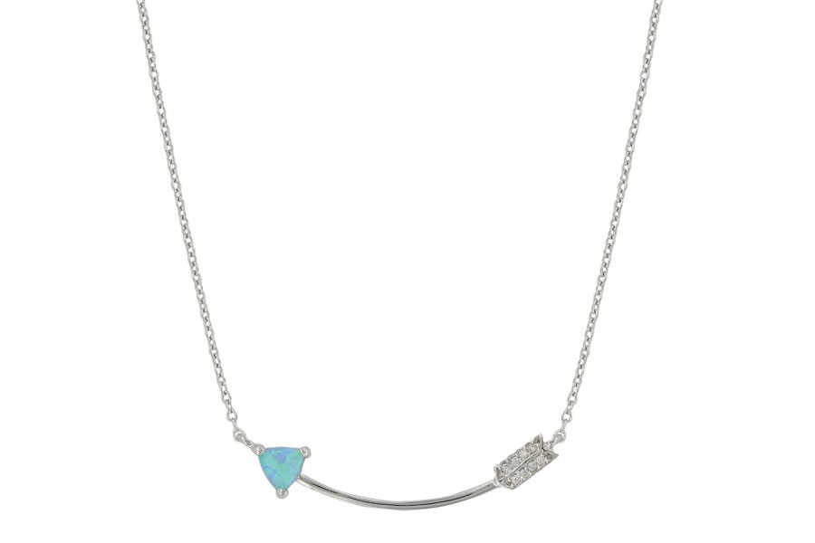 My Direction Opal Curved Arrow Necklace