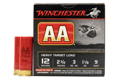 Winchester 12 Gauge 2 3/4 1 1/8 oz 9 Shot AA Target Load 25/Box