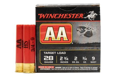 WINCHESTER AMMO 28 Gauge 2 3/4 in 3/4 oz 9 Shot - AA Target Load 25/Box