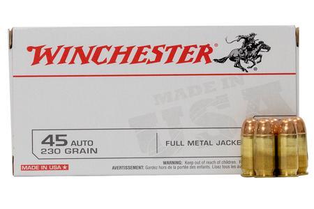 Winchester 45 Auto 230 gr FMJ Police Trade-in Ammo 50/Box