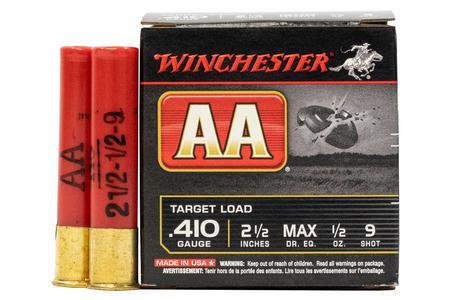 WINCHESTER AMMO 410 Gauge 2 1/2 in 1/2 oz 9 Shot AA Target Load 25/Box