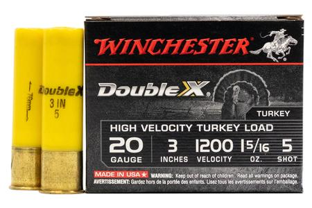 Winchester 20 Gauge 3 in 1 5/16 oz 5 Shot Double X 5/Box
