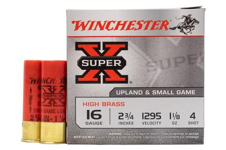 WINCHESTER AMMO 16 Gauge 2 3/4 in 1 1/8 oz 4 Shot Super X 25/Box