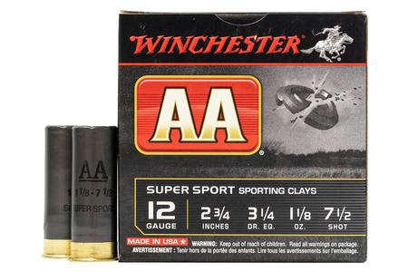 WINCHESTER AMMO 12 Gauge 2 3/4 in 1 1/8 oz 7 1/2 Shot AA Super Sport 25/Box