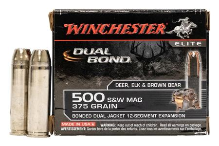 WINCHESTER AMMO 500 SW Magnum 375 gr Bonded Dual Jacket 20/Box