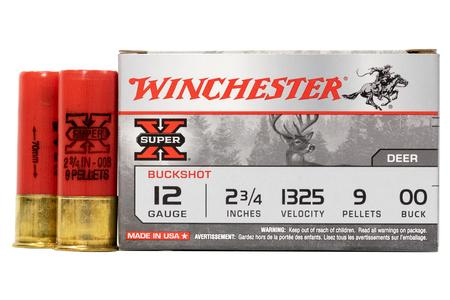Winchester 12 Gauge 2 3/4 In 9 Pellet 00 Buck Super X 5/Box