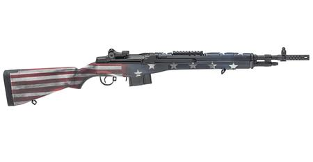SPRINGFIELD M1A SCOUT SQUAD 308 RED,WHITE,BLUE FLAG