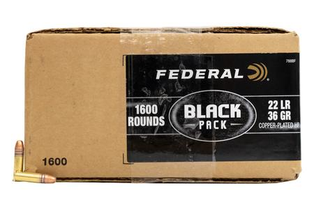 Federal 22 LR 36 gr Copper Plated Hollow Point Black Pack 1600/Box