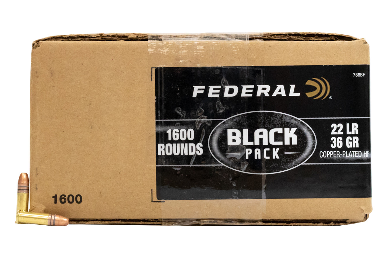 federal 22 lr 36 gr copper plated hollow point black pack 1600 box