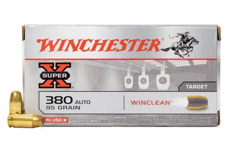 Winchester 380 ACP 95 gr Winclean Super X Police-Trade Ammo 50/Box