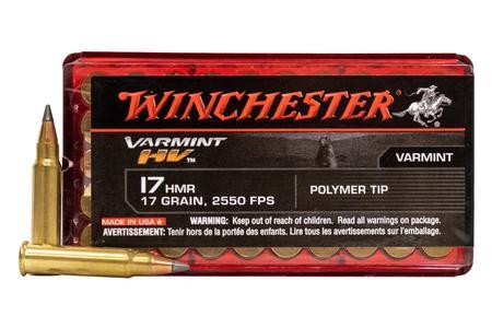 WINCHESTER AMMO 17 HMR 17 gr Polymer Tip Varmint HV 50/Box