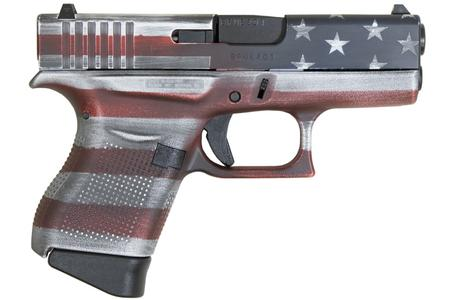 GLOCK 43 9MM  BATTLEWORN USA FLAG CERAKOTE