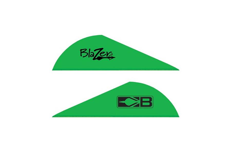 100pk Bohning 2 AIR Vane Neon Green 2 AIR Vane