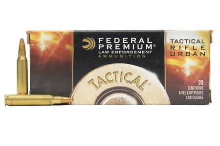 FEDERAL AMMUNITION 223 Rem 55 gr Soft Point Tactical Rifle Urban Police Trade Ammo 20/Box