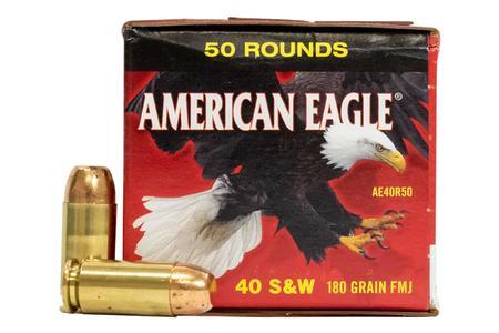 Federal 40SW 180 gr FMJ American Eagle 50/Box