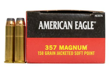 FEDERAL AMMUNITION 357 Mag 158 gr Jacketed Soft Point 50/Box