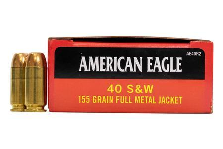 Federal 40SW 155 gr FMJ American Eagle 50/Box