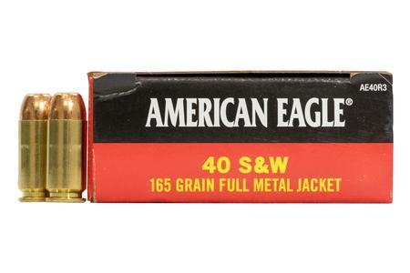 Federal 40 SW 165 gr FMJ American Eagle 50/Box