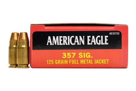 FEDERAL AMMUNITION 357 Sig 125 gr FMJ American Eagle 50/Box