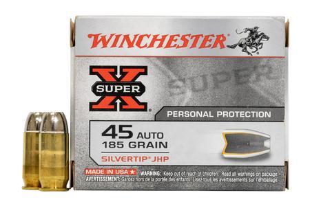 Winchester 45 Auto 185 gr Silvertip JHP Super-X 20/Box
