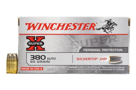 Winchester 380 Auto 85 gr Silvertip Hollow Point Super-X 50/Box