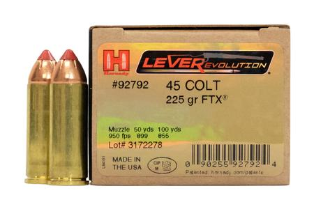 Hornady 45 Colt 225 gr FTX LEVERevolution 20/Box