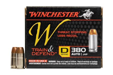 Winchester 380 Auto 95 gr JHP W Train and Defend 20/Box