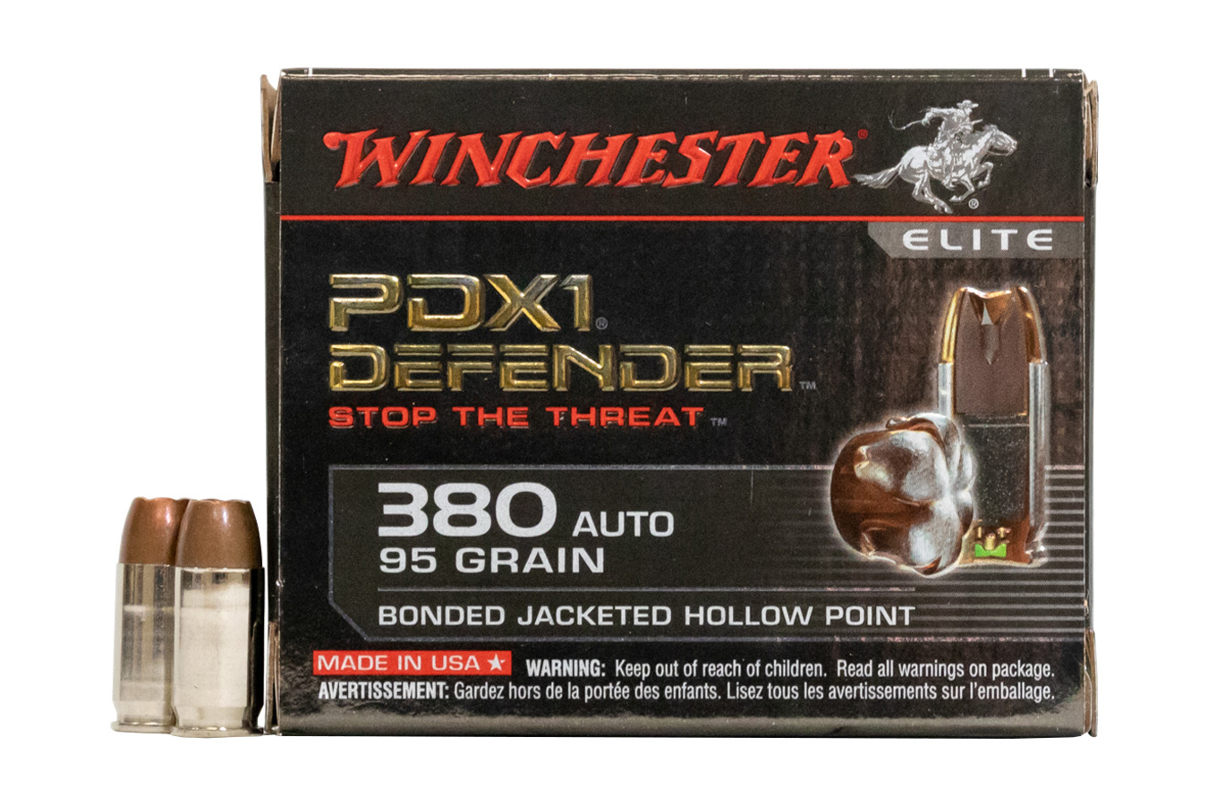 WINCHESTER AMMO 380 AUTOMATIC 95 GR.  BONDED DEFENDER