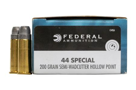 FEDERAL AMMUNITION 44 Special 200 gr Semi-Wadcutter HP Champion 20/Box