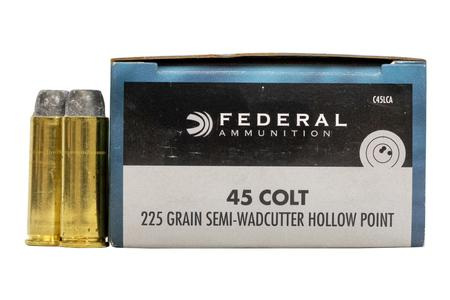 FEDERAL AMMUNITION 45 Colt 225 gr Semi-Wadcutter HP 20/Box