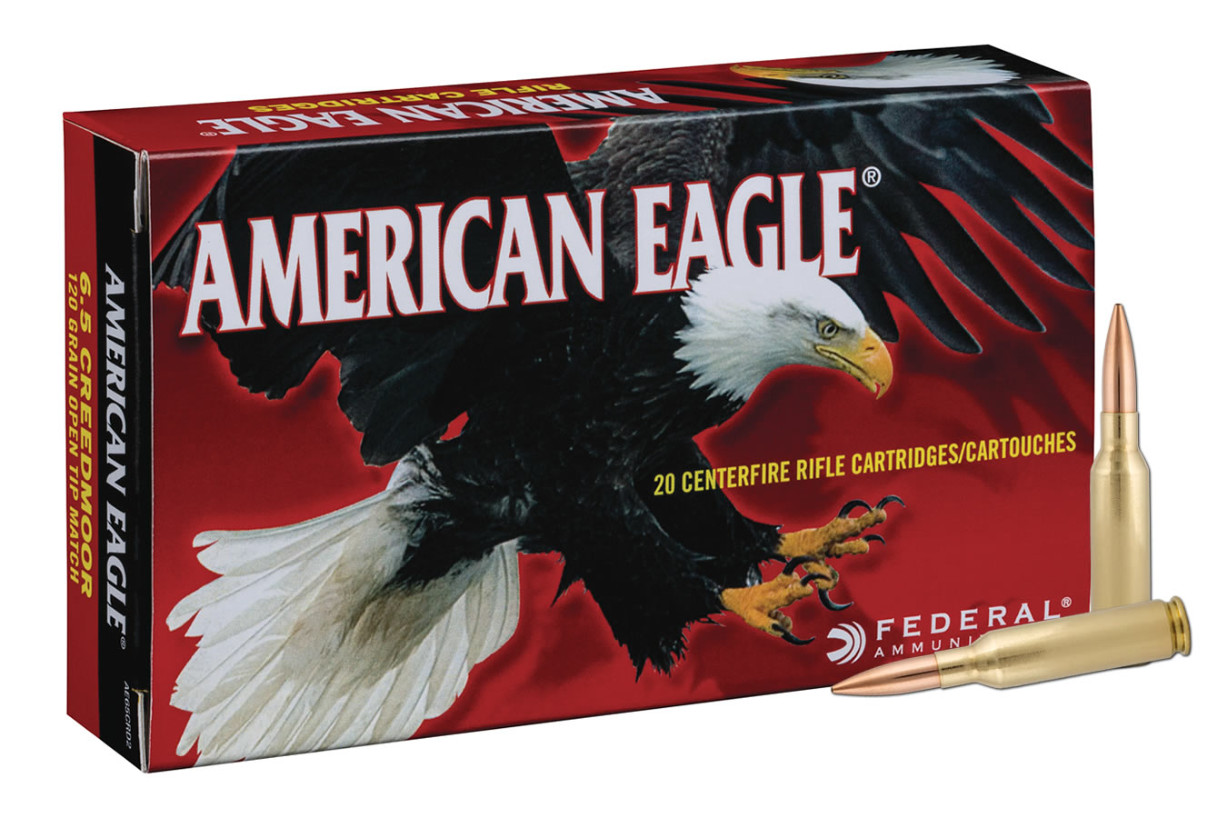 6.5 CREEDMOOR 120 GR BTHP AMERICAN EAGLE 20/BOX
