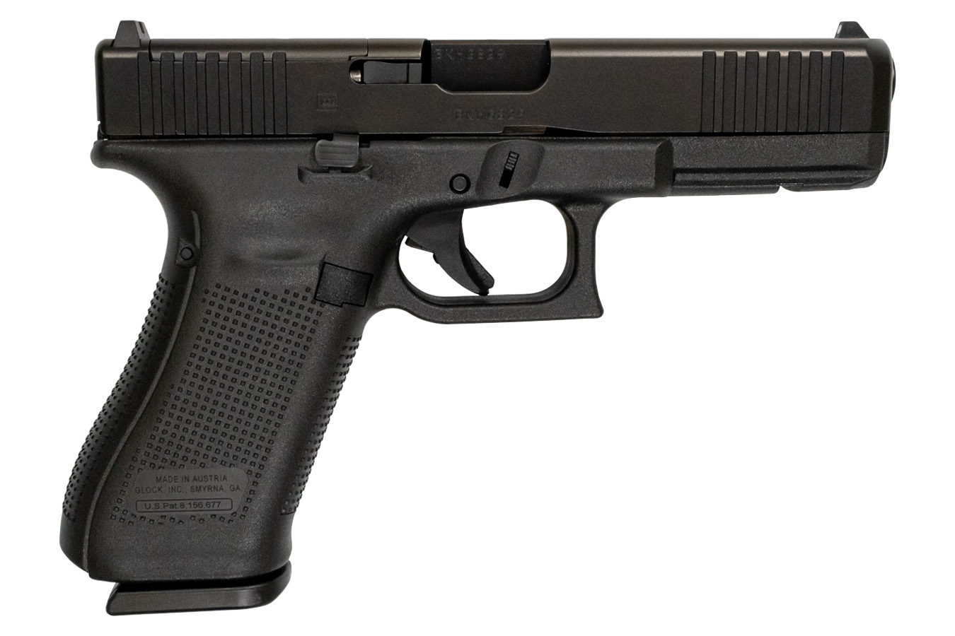 Glock 17 Gen5 9mm Mos Full Size Pistol With Front Serrations Vance