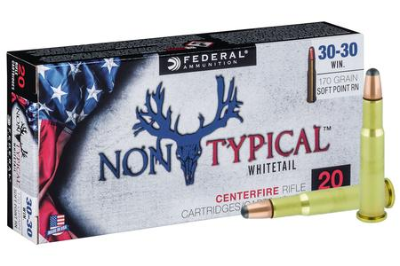 FEDERAL AMMUNITION 30-30 Winchester 170 gr Non Typical Soft Point 20/Box