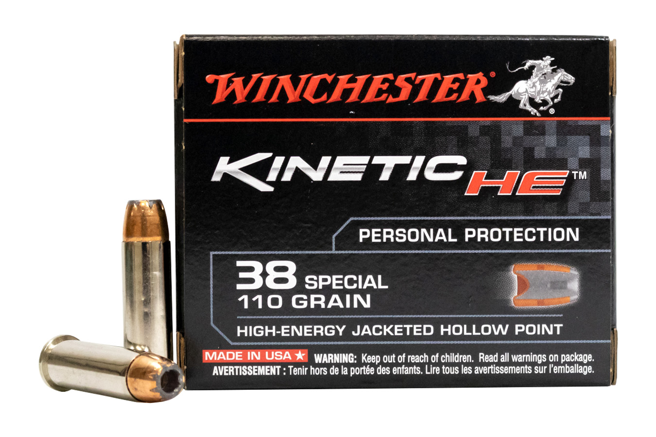 38 SPECIAL 110 GR HIGH ENERGY JHP KINETIC HE 20/BOX