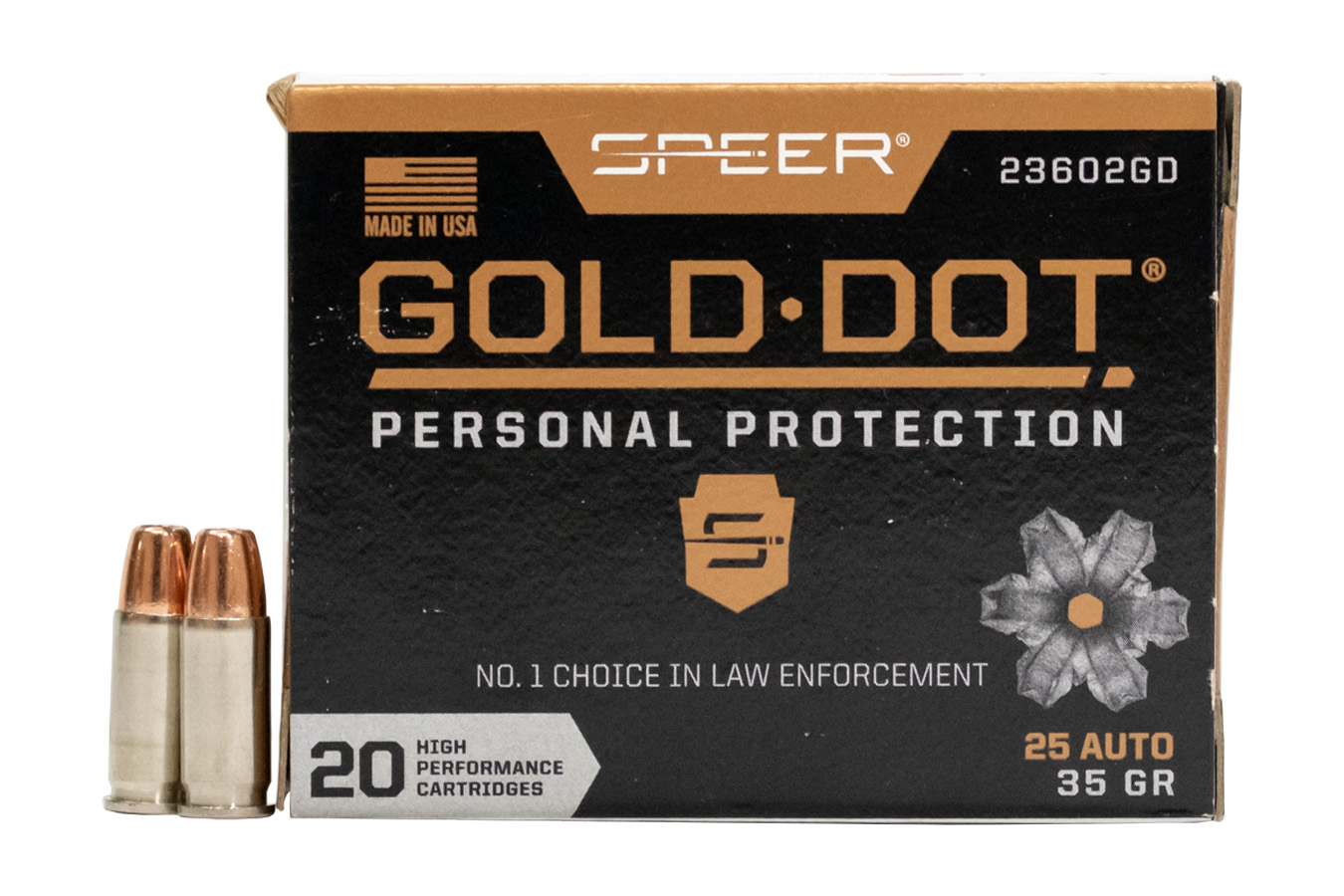 25 AUTO 35 GR GOLD DOT HOLLOW POINT