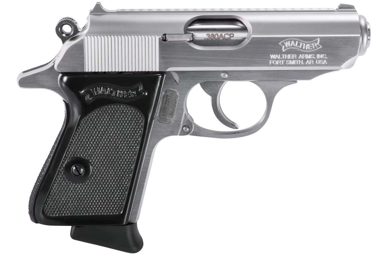 No. 4 Best Selling: WALTHER PPK 380 ACP STAINLESS 6 RND MAG