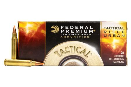 FEDERAL AMMUNITION 223 Rem 55 gr Bonded SP Tactical Rifle Urban 500 Round Case
