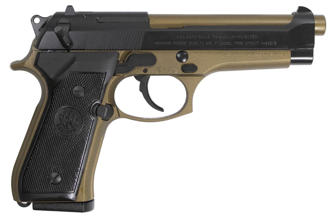 92FS 9mm DA/SA Pistol with Burnt Bronze Frame