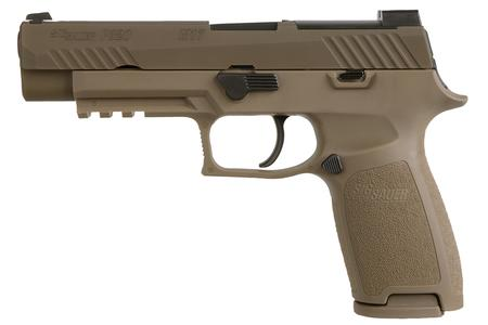 SIG SAUER P320 M17 9MM FULL-SIZE FDE WITH NO MANUAL SAFETY
