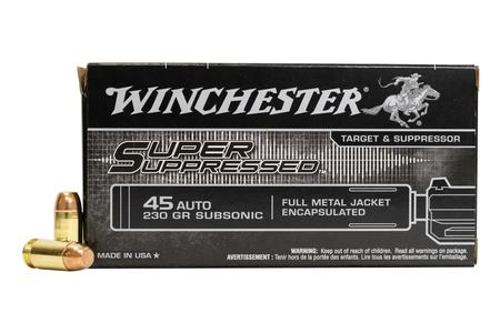 Winchester 45 ACP 230 gr Subsonic FMJ Encapsulated - Super Suppressed 50/Box