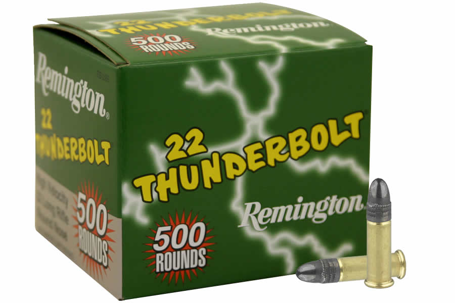 Remington 22LR 40 gr Lead Round Nose Thunderbolt 500 Round Brick