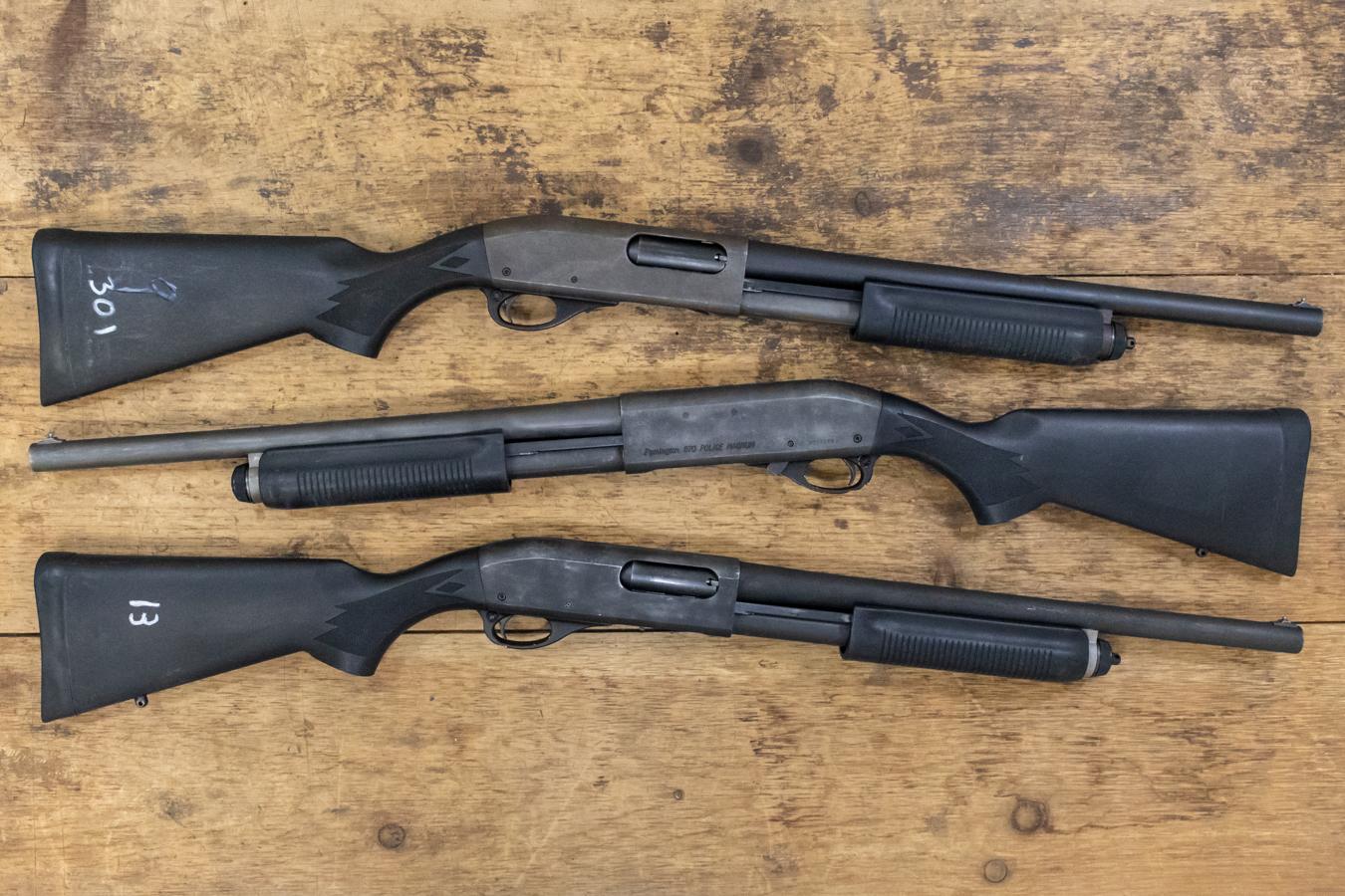 remington 870 police magnum 12 gauge pump action police trade