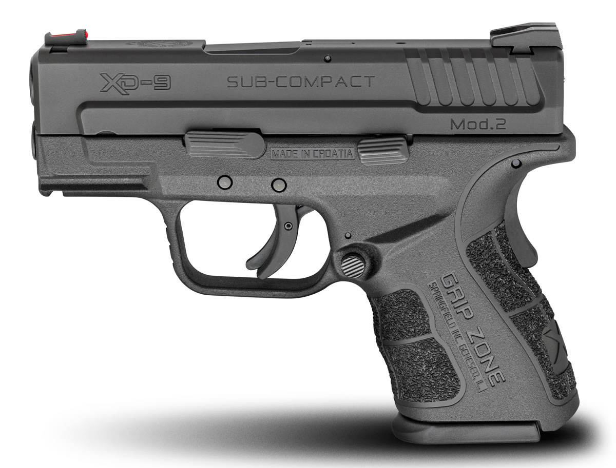 Springfield Xd Mod2 9mm Sub Compact Black Gear Up Package With 5