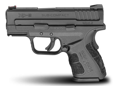 SPRINGFIELD XD MOD.2 9MM SUB-COMPACT BLACK GEAR UP PACKAGE