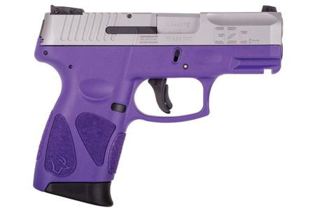 Taurus G2C 9mm Sub-Compact Pistol with Dark Purple Frame and Stainless Slide
