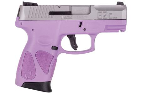 Taurus G2C 9mm Sub-Compact Pistol with Light Purple Frame and Matte  Stainless Slide