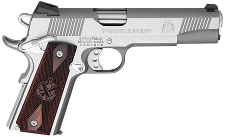 SPRINGFIELD 1911 LOADED .45 ACP STAINLESS GEAR UP PACKAGE