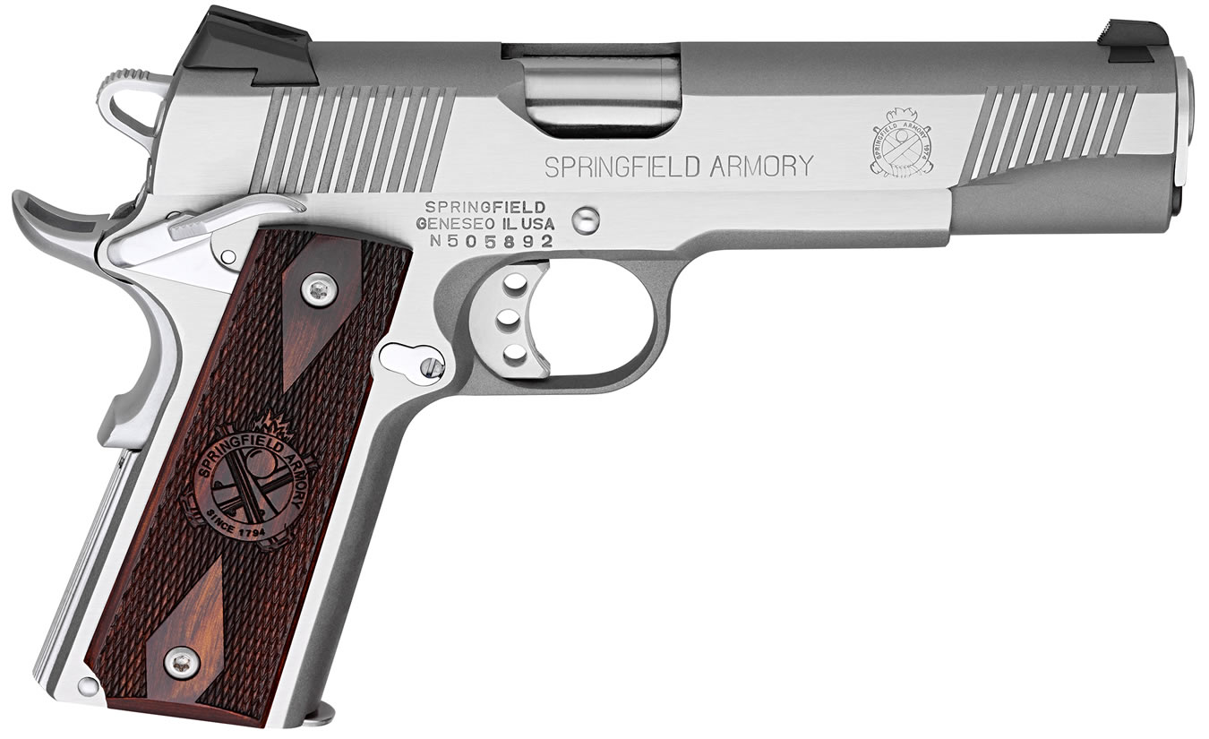 1911 LOADED .45 ACP STAINLESS GEAR UP PACKAGE