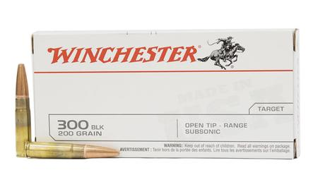 WINCHESTER AMMO 300 Blackout 200 gr Open Tip Subsonic 20/Box